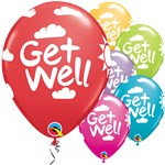 "Get Well Soon Multi Balloons - 11"" Latex"