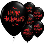 "Happy Halloween Haunted Bats Balloons - 11"" Latex"