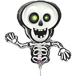 "Halloween Prefilled Skeleton Mini Shaped Balloon - 9"" Foil"