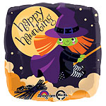 "Cute Witch Balloon - 18"" Foil"