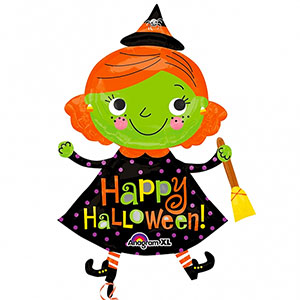 "Cute Witch Balloon - 37"" Foil"