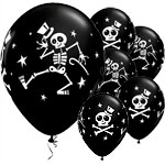 "Dancing Skeleton Balloons - 11"" Latex"