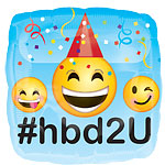 "Happy Birthday Emoji Balloon - 18"" Foil"
