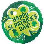 "Happy St Patrick's Day Balloon - 18"" Foil"