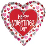 Happy Valentine's Day Hearts Balloon - 18' Foil