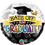"Hats off to the Graduate Balloon - 18"" Foil"