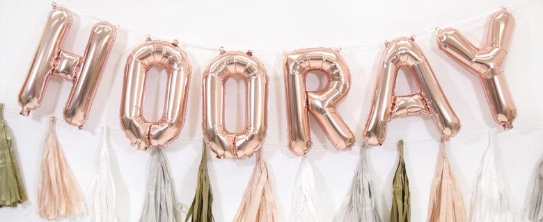 Air-filled Letter Balloons