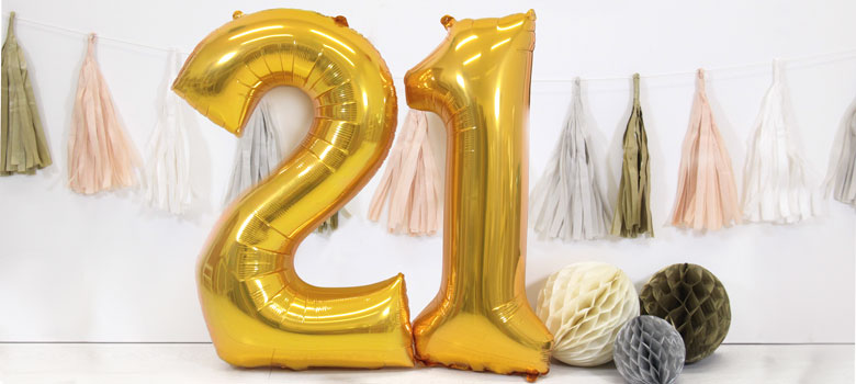 Giant Foil Number Balloons 34 Quot Woodies Party