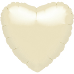 Iridescent Ivory Pearl Heart Balloon - 18