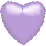 "Metallic Pastel Lilac Heart Balloon - 18"" Foil"
