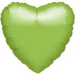 "Metallic Lime Green Heart Balloon - 18"" Foil - unpackaged"