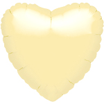 "Metallic Pearl Ivory Heart Balloon - 18"" Foil - unpackaged"