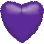 18'' Quartz Purple Heart Foil
