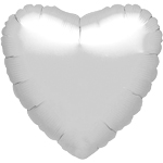 Metallic Silver Heart Balloon - 18'' Foil - unpackaged