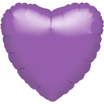 "Spring Lilac Heart Balloon - 18"" Foil - unpackaged"