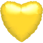 Metallic Yellow Heart Balloon - 18'' Foil - unpackaged