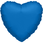 Metallic Blue Heart Balloon - 32