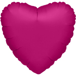 Metallic Fuchsia Heart Balloon - 32