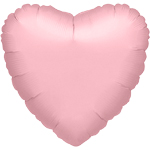 Metallic Pearl Pastel Pink Heart Balloon - 32