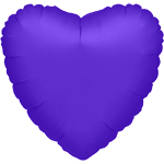 32'' Metallic Purple Jumbo Heart