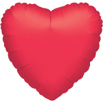 Metallic Red Heart Balloon - 32