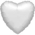 "Metallic Silver Heart Balloon - 32"" Foil"