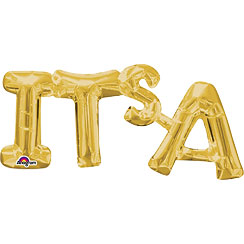 It's A Gold Foil Phrase Balloon