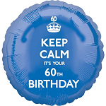 "Keep Calm It's Your 60th Birthday Balloon - 18"" Foil"