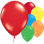 "Multicoloured Balloons - 11"" Metallic Latex"