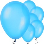 "Blue Balloons - 11"" Metallic Latex"
