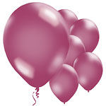 Burgundy Balloons - 11'' Metallic Latex
