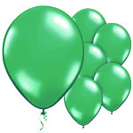 Green Balloons - 11'' Metallic Latex