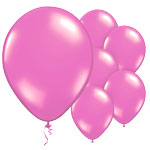 "Magenta Balloons - 11"" Metallic Latex"