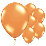 Orange Balloons - 11'' Metallic Latex