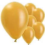 "Gold Balloons - 11"" Pearl Latex"