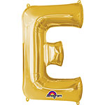 Gold Letter E Balloon - 16