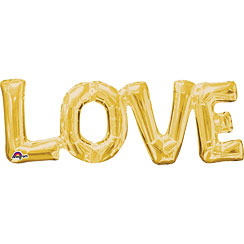 Love Gold Foil Phrase Balloon - 25""