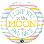 "Love You To The Moon Foil Balloon - 18"" Balloon"