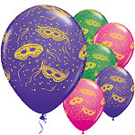 "Mardi Gras Mardi Gras Assorted Balloons - 11"" Latex"