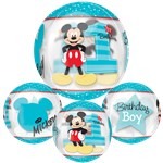 "Mickey Mouse 1st Birthday Orbz Balloon - 25"" Foil"