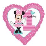 "Minnie Mouse 1st Birthday Balloon - 18"" Foil"