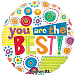 "You're the Best Whimsy Dots Balloon - 18"" Foil"