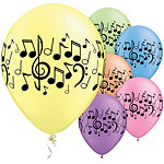 Music Notes Assorted Balloons - 11