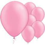 Neon Pink Balloons - 11'' Latex