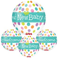 "New Baby Orbz Balloon - 16""-18"" Foil"
