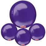 "Purple Birthday Orbz Balloon - 16""-18"" Foil"