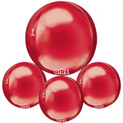 "Red Birthday Orbz Balloon - 16""-18"" Foil"