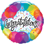 "Congratulations! Balloons Patterns Balloon - 18"" Foil"