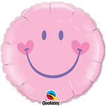 "Sweet Smile Pink Birthday Balloon - 18"" Foil"