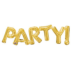Party Gold Foil Phrase Balloon